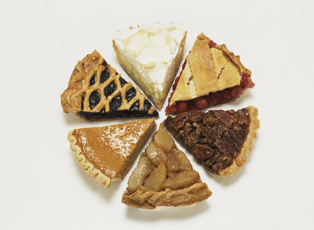 Assorted pie slices
