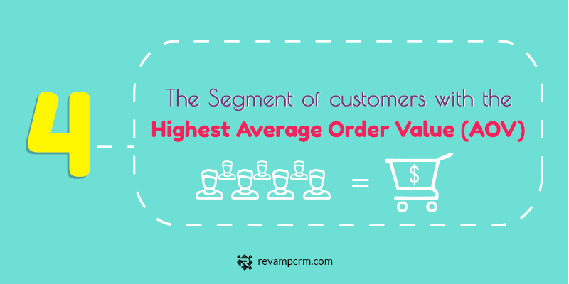 4 The 5 Key Insights About Your Customers You Should Be Studying The Segment of customers with the highest average order value (AOV)