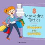 8 Marketing Tactics that turns Shoppers into Buyers infographic